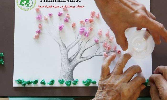 هنر درمانی در سالمندان مبتلا به آلزایمر