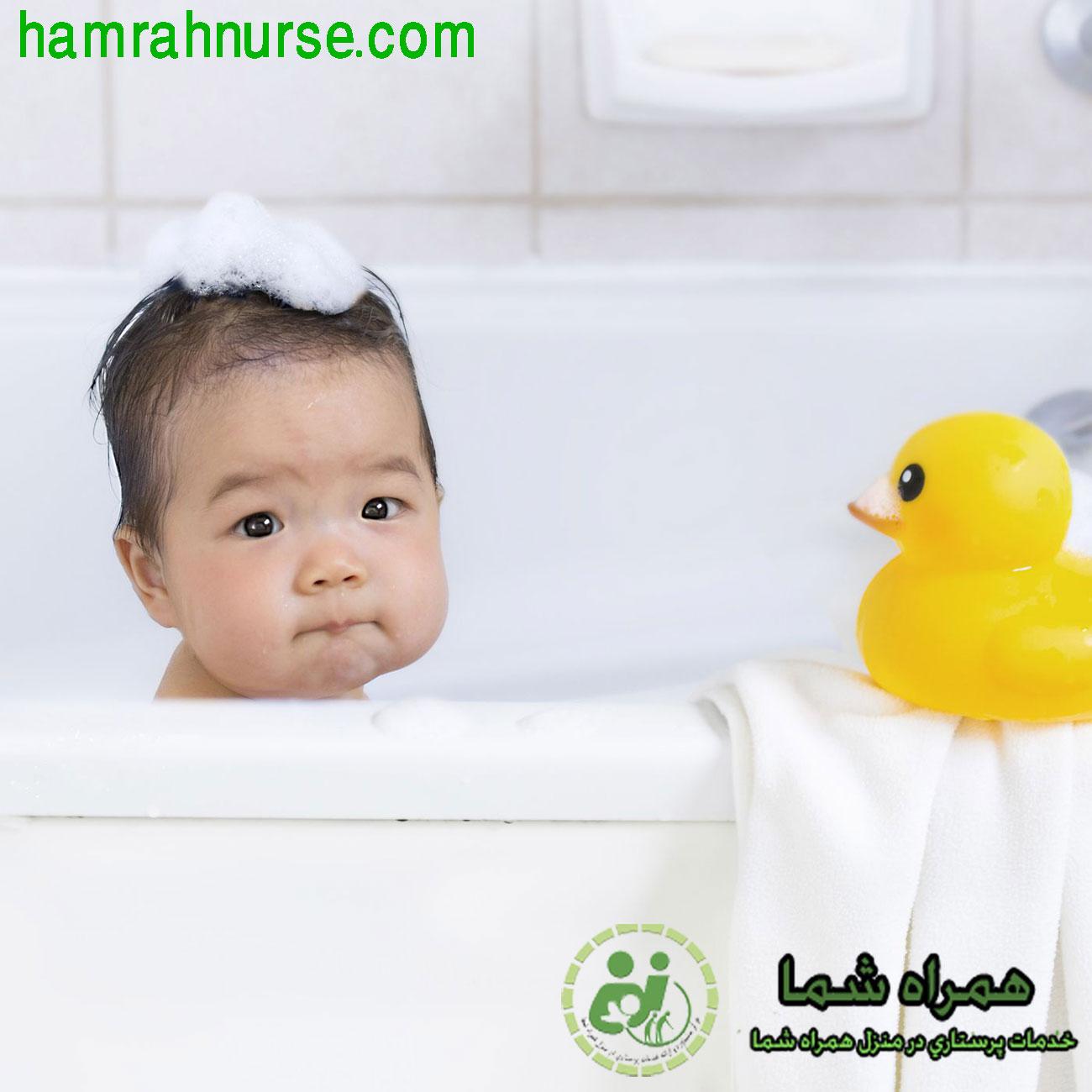 نکات مهم در حمام کردن نوزاد